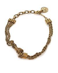 Lanvin - Metallic Knot Chain Short Necklace - Lyst