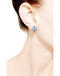 Dana Rebecca - Blue Emma Harper Oval Earrings - Lyst