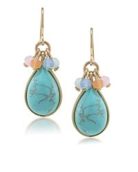 Carolee | Blue Cluster Stone Teardrop Earrings | Lyst