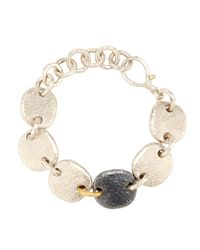 Gurhan | Metallic Hammered Sterling Silver Pebble Link Bracelet | Lyst