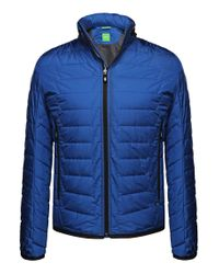 BOSS Green | Blue 'jelger' | Quilted Jacket With Zip Out Hood for Men | Lyst