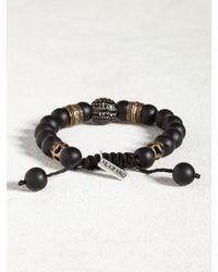 John Varvatos | Black Agate & Oxidized Bronze Bracelet for Men | Lyst