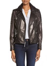 Vince Camuto Black Leather Moto Jacket