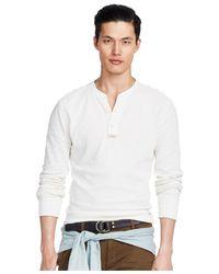 Polo Ralph Lauren - White Textured Cotton Henley for Men - Lyst