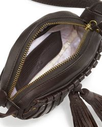 Cynthia Vincent Brown Billy Leather Tassel Canteen Bag