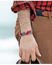 Brooks Brothers - Kiel James Patrick Red Mini Bb#1 Stripe Wrap Bracelet for Men - Lyst