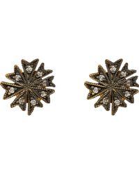 Cathy Waterman - Brown coral Flower Stud Earrings - Lyst