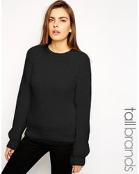 Taller Than Your Average Black Ttya Chunk Cable Knitted Jumper