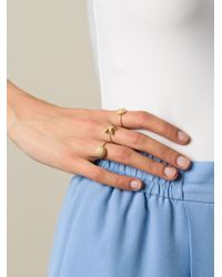 Valentino | Metallic Set Of Five Shell Rings | Lyst