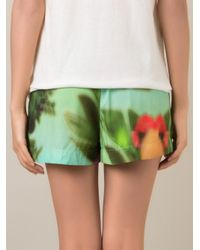 Osklen | Green Tropical Print Shorts | Lyst