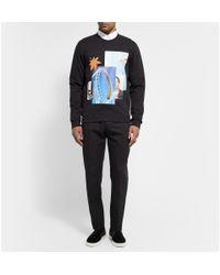 Raf Simons Black Loopback Printed Cotton-jersey Sweatshirt for men
