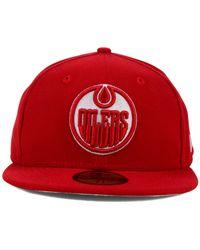 KTZ | Red Edmonton Oilers C-Dub 59Fifty Cap for Men | Lyst