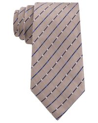 Geoffrey Beene - Brown City Grid Tie for Men - Lyst