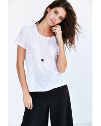 Project Social T | White Lizzie Tee | Lyst