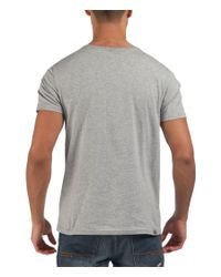 Bench - Gray Wrong Graphic Crew Neck Slim Fit T-shirt for Men - Lyst