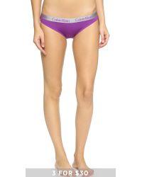 Calvin Klein - Purple Radiant Cotton Bikini Panties - Desert Hibiscus - Lyst