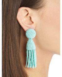 Oscar de la Renta - Red Classic Short Tassel Earrings - Lyst