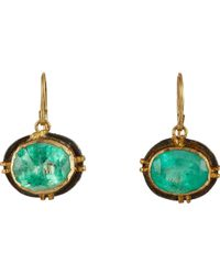 Judy Geib | Green Emerald Drop Earrings | Lyst