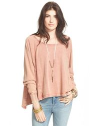Free People | Pink 'cupcake Sunrise' Pullover | Lyst