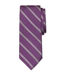 Brooks Brothers | Purple Textured Tonal Stripe Tie for Men | Lyst