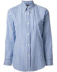 Isabel Marant - Blue Eddie Striped Shirt - Lyst