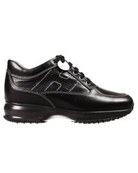 Hogan | Black Sneakers Shoes Interactive H Perforate Leather | Lyst