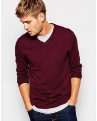 Esprit - Purple Cashmere Mix V Neck Jumper for Men - Lyst
