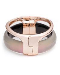 Alexis Bittar Pink Liquid Stacked Hinge Bracelet