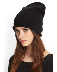 Forever 21 - Black Faux Suede Band Wool Fedora - Lyst