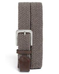 Trafalgar | Gray Cotton Web Belt for Men | Lyst