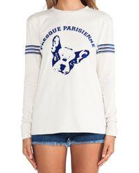 Être Cécile White Presque Parisienne Long Tshirt