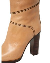 Chloé Natural 105mm Leather Over The Knee Boots