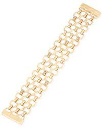 Kenneth Cole | Metallic Gold-tone Crystal Multi-row Bracelet | Lyst