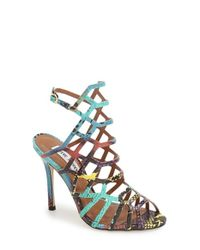 Steve Madden | Multicolor Slithur Caged Leather Sandals | Lyst