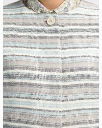 Weekend by Maxmara Blue Stripe Coat