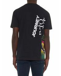 McQ Black High Rollin' Multiprint T-Shirt for men