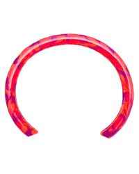 Gemma Redux | Red Marbled Paint Bangle | Lyst