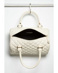 Forever 21 - Natural Quilted Faux Leather Satchel You've Been Added To The Waitlist - Lyst