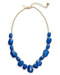 kate spade new york Blue 'quarry Gems' Frontal Necklace