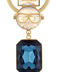 Sophie Hulme - Metallic Ossie Crystal And Gold-plated Key Ring - Lyst