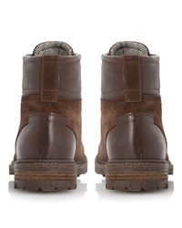 Dune Brown Canyon Suede Hiker Boots for men