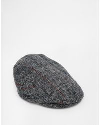 352afaa287de4 ASOS Flat Cap In Gray Harris Tweed in Gray for Men - Lyst