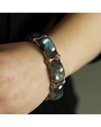 Federica Rettore - Multicolor Nodo D'amore Labradorite Bracelet - Lyst