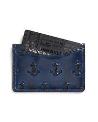Jack Spade Blue Leather Card Case for men