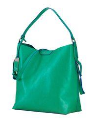 Lauren by Ralph Lauren Green Tate Leather Hobo Bag