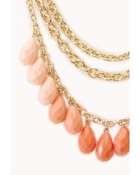 Forever 21 - Pink On The Edge Layered Bib Necklace - Lyst