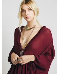 Free People | Purple Get Yer Gauze Tunic | Lyst