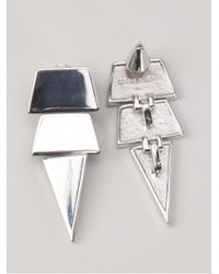 Eddie Borgo - Metallic Large Triangle Earring - Lyst