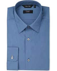 Paul Smith | Blue Byard Slim-fit Single-cuff Cotton Shirt for Men | Lyst