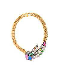 Shourouk | Metallic Pimp Aigrette Multi Necklace | Lyst
